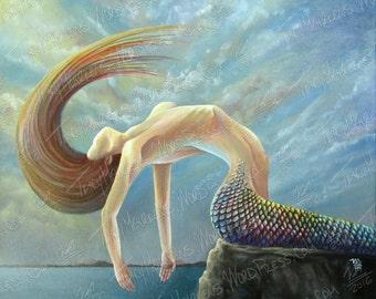 Mermaid 20x16 in. Acrylic Paint on Canvas, 2016