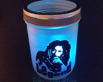 Bob Marley Lantern Party Light, Patio Light - With Color Changing Tealight
