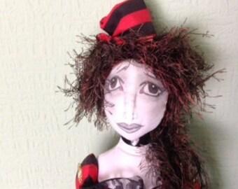 """Steam Punk 18"""" cloth doll"""