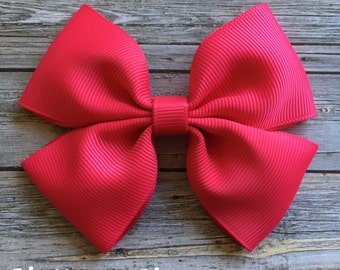 Shocking Pink Boutique Hair Bow