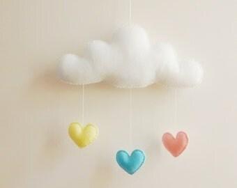 Love Cloud Mobile 'Cloudish Colours'- Ready to Ship! | Nursery Decor | Baby | Kids