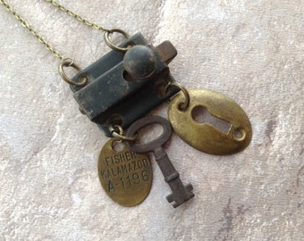 Hardware Jewelry, Found Object Necklace, Upcycled Jewelry, Industrial Jewelry