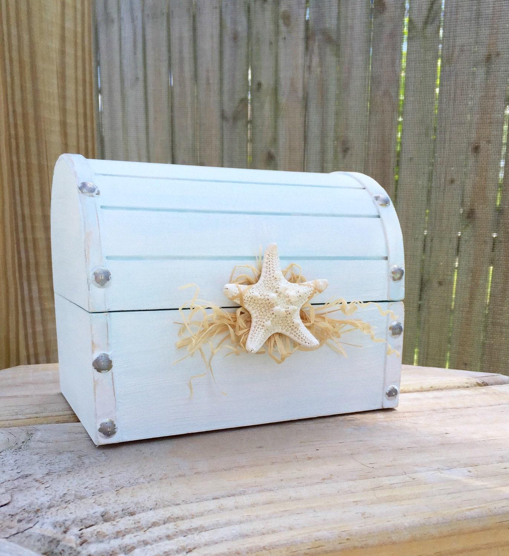 hand painted shabby chic beach decor wedding trinket card box. Black Bedroom Furniture Sets. Home Design Ideas