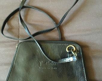 Vintage  T Nobile Italian Crossbody leather Bag Purse