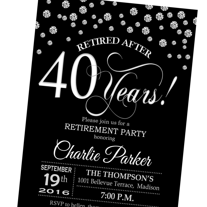 Elegant Retirement Party Invitations Images - Party Invitations Ideas