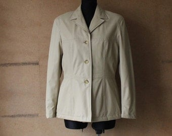 Marc O'Polo Vanilla Jacket Vintage Women Waterproof Jacket Medium Size