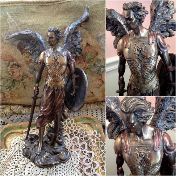 St Raphael Archangel Statue: 14.25 Archangel St. Michael Statue Saint By