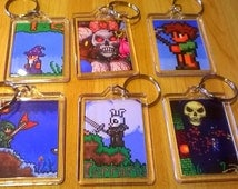 Terraria Keyrings x 6! High-res, double sided.