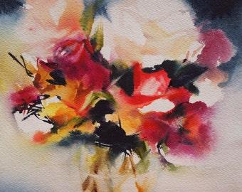 Original watercolour of flowers 2