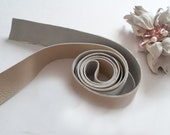 Leather Soft Bow Belt Ivory color Leather belt Leather Belt Minimalist belt leather narrow belt Girl day gifts Leather accessorie