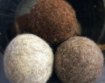 Ovella Wool Dryer Balls, The Lixo Collection. Set of three (3)