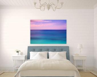 Jewel ~ Bermuda, Sunset, Canvas Gallery Wrap, Pink, Turquoise, Aqua, Vibrant, Abstract, Wall Art, Coastal Decor, Caribbean, Art