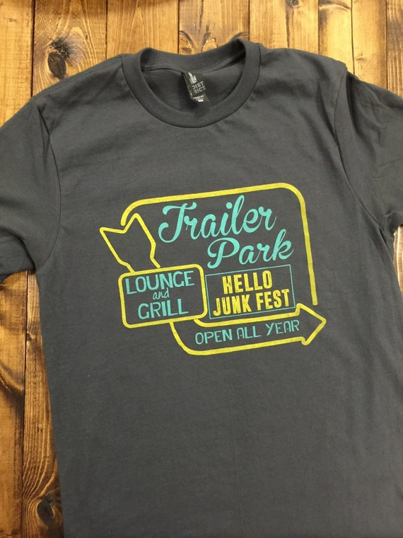 tshirt softest tee ever neon sign trailer park by jolijonque