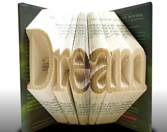 Book folding Dream Word (Pattern)