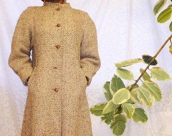 Ladies Vintage Wool Swing Coat