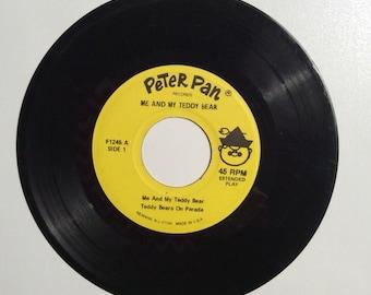 Me and My Teddy Bear Vintage Vinyl 45 Record Album 1962
