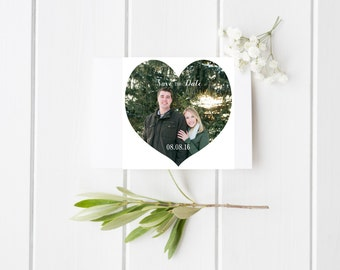 Heart Shaped Save the Date Card