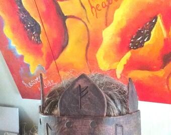 Headpiece Leather Runes Elvencrown Warrior crown headband Festival lotr diadem larp stirnband headpiece Elves  medieval woodland