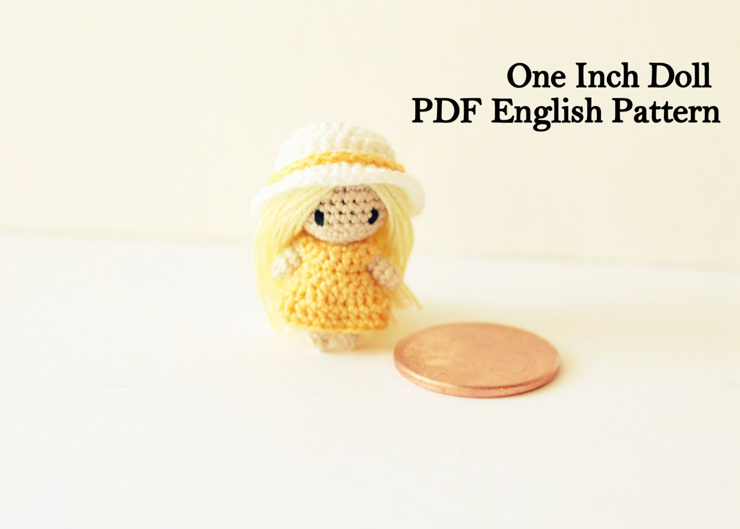 Crochet Mini Doll Pattern : Micro Mini Doll Amigurumi Pattern Miniature by ...