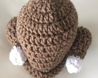 Crochet Turkey Beanie,  Turkey Hat, Crochet Turkey Hat, Beanie, Fun Winter Accessory