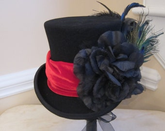 Black Top Hat Stevie Nicks Inspired - Classic Stevie - SMALL