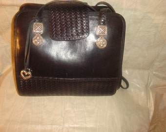 Final Clearance Black Leather Brighton Shoulder Bag