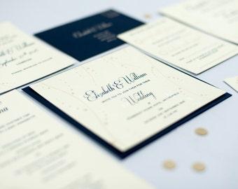 Nerine Screen Printed Wedding Stationery Suite