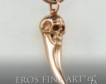 Anhänger Zahn mit Totenkopf - extravagenter Silberschmuck, Totenkopf, Skull, Schädel, Gothic, Darkness, Zahn, Kult, Geschenk, Trophäe