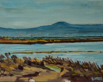 Ohlone Marsh, Oil on Canvas Panel 9''x12''