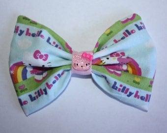 Rainbow Hello Kitty Bow