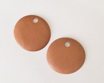 2 Rosewood pendants, wood pendant, round wood pendant 40mm