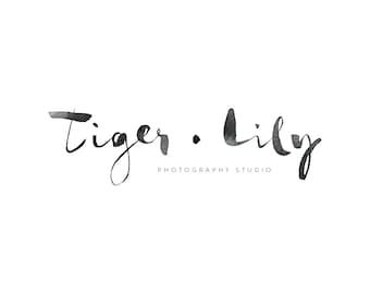 Custom Watercolor Logo - Tiger Lily - Logo - Photography Logo - Business Logo - Feminine Logo - Logo Branding - Watercolor Logo Design