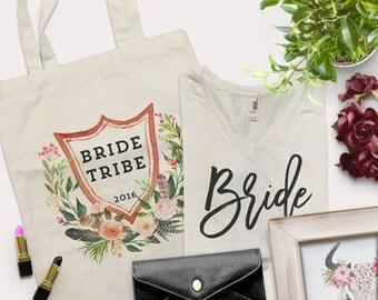Bride Tribe bags, Bachelorette Swag Bags, Bride to Be tote bag, Bride tote bag, Bride Bag, Wedding tote bag, Wedding, Future Mrs.