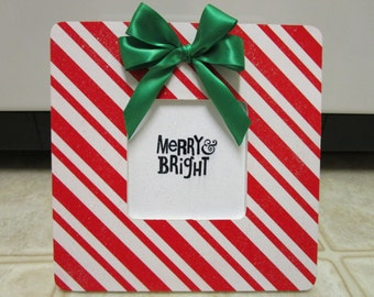 Candy Cane Picture Frame-Christmas Picture Frame-Christmas Decor
