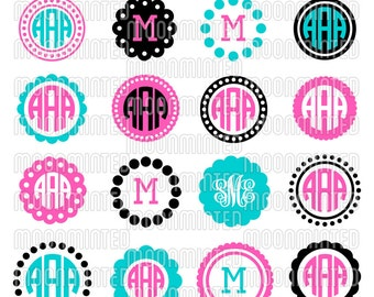 Circle Monogram Frame SVG Cut Files for Vinyl Cutters, Screen Printing, Silhouette, Die Cut Machines, & More