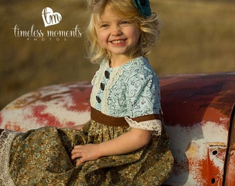 Little Girl Classic Pintuck Dress with Sleeves