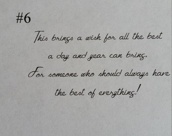 Birthday message #6