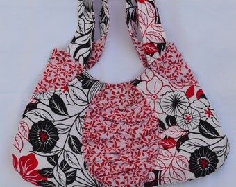 Red and Black Flower Bag