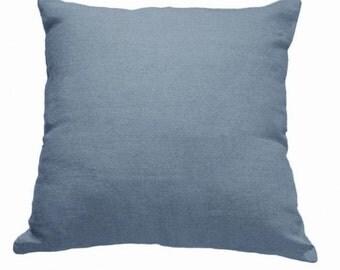 Plain Linen Cushion- Plain Blue Cushion- Plain Cushion- Blue Pillow- Plain Pillow- Blue Throw Pillow- Blue Cushion- Blue Linen Cushion Cover