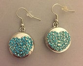 Snap Earrings with Blue, ...