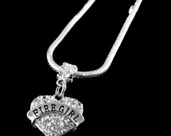 Fire girl  necklace Fire girl necklace Firegirl Gift Fire girl gift Fire girl jewelry Fire girl charm Jewelry