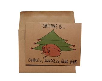 Funny Christmas card boyfriend Christmas card girlfriend love christmas card wife  sexy Christmas card husband holiday card her