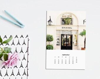 Paris 2016 Calendar - 2016 Color Calendar of Paris featuring 12 Paris Photo Favourites - 2 sizes available- Desk Calendar 2016 -Paris Prints