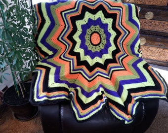 October Round Ripple Afghan
