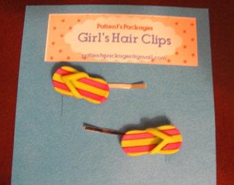 Flip Flop Bobby Pins/ Hair Clips/ Barrettes