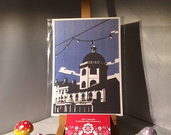 A5 Print of my original papercut of the Iconic  Dome Cinema in Worthing