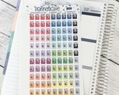 S283 ||  WASHING MACHINE Stickers for Planner (99 Removable Matte Stickers)