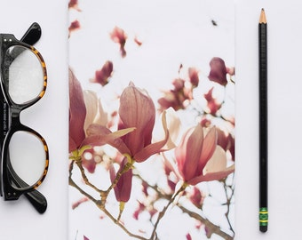 Blank Journal, Writer Notebook, Sketch Book, California Images, Pink Magnolias