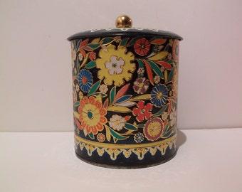 Collectible Floral Art Deco Tin