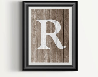 Charmant Rustic Home Decor   Wood Letter Art   Faux Wood Print   Gift For Her